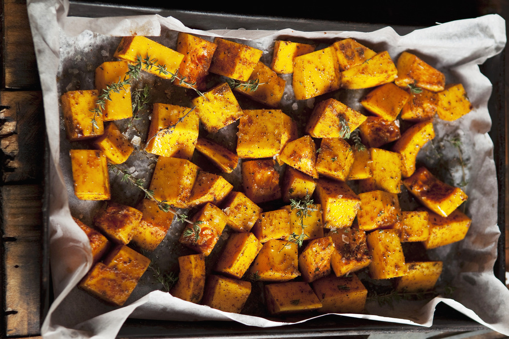 Oven-Roasted Sweet Potatoes with Thyme