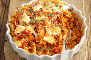 Three-Ingredient Bolognese Pasta Bake