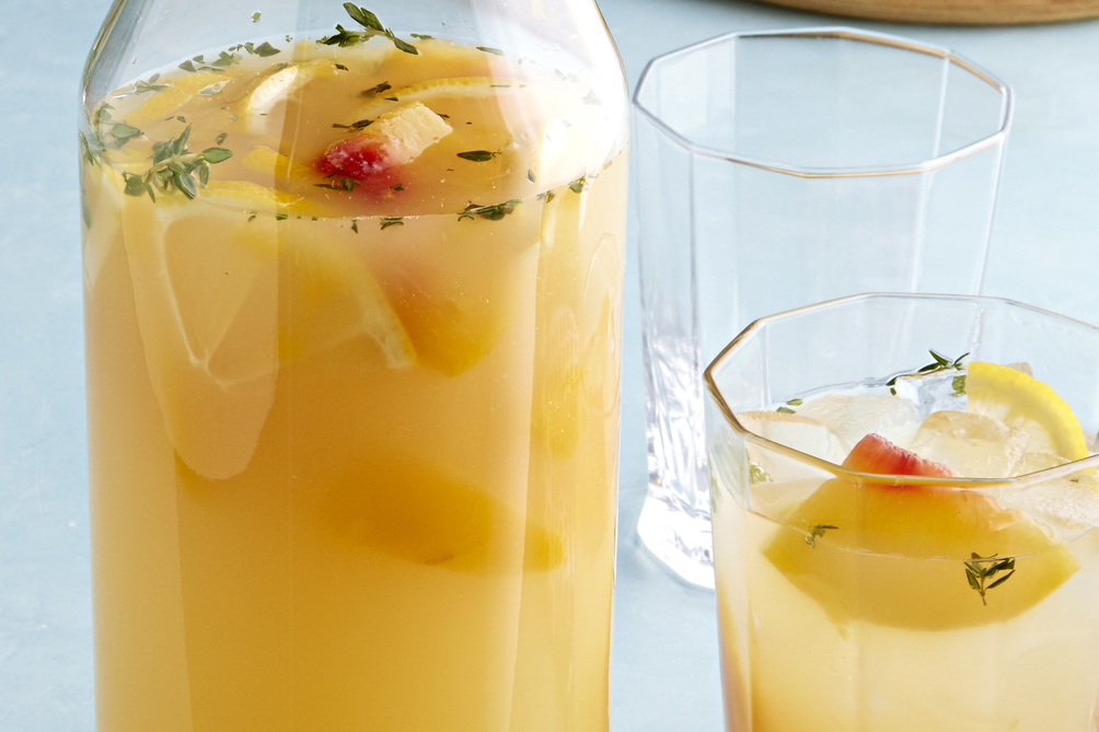 No-Alcohol Peach Sangria