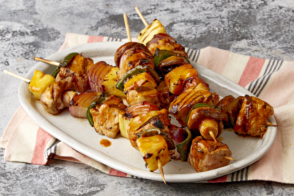 Chipotle-Pineapple Pork Skewers