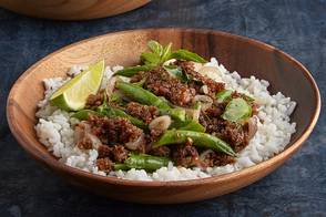 Spicy Thai Basil-Pork & Green Beans