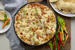 Cheesy Cauliflower Dip with Bacon