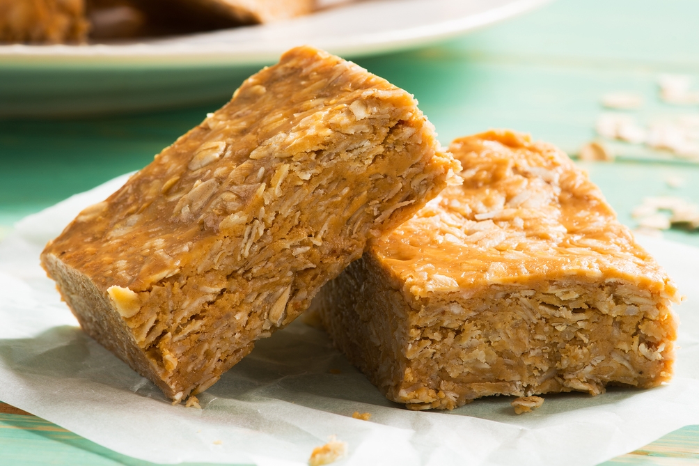 Peanut Butter, Coconut & Oat Bars