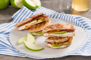 Apple-Bacon Cheese Grillers