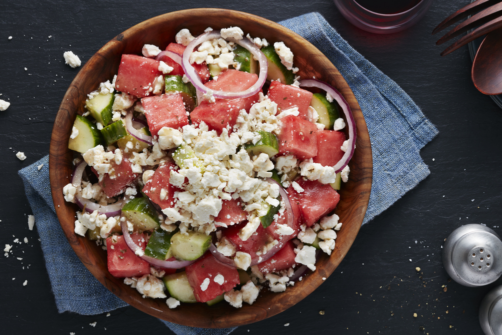 Refreshing Watermelon, Cucumber & Feta Salad