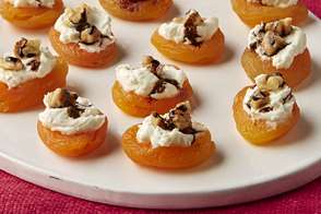 Cheese & Balsamic Apricot Bites