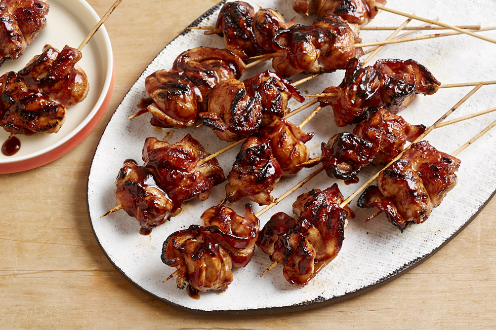BBQ Chicken & Bacon Skewers