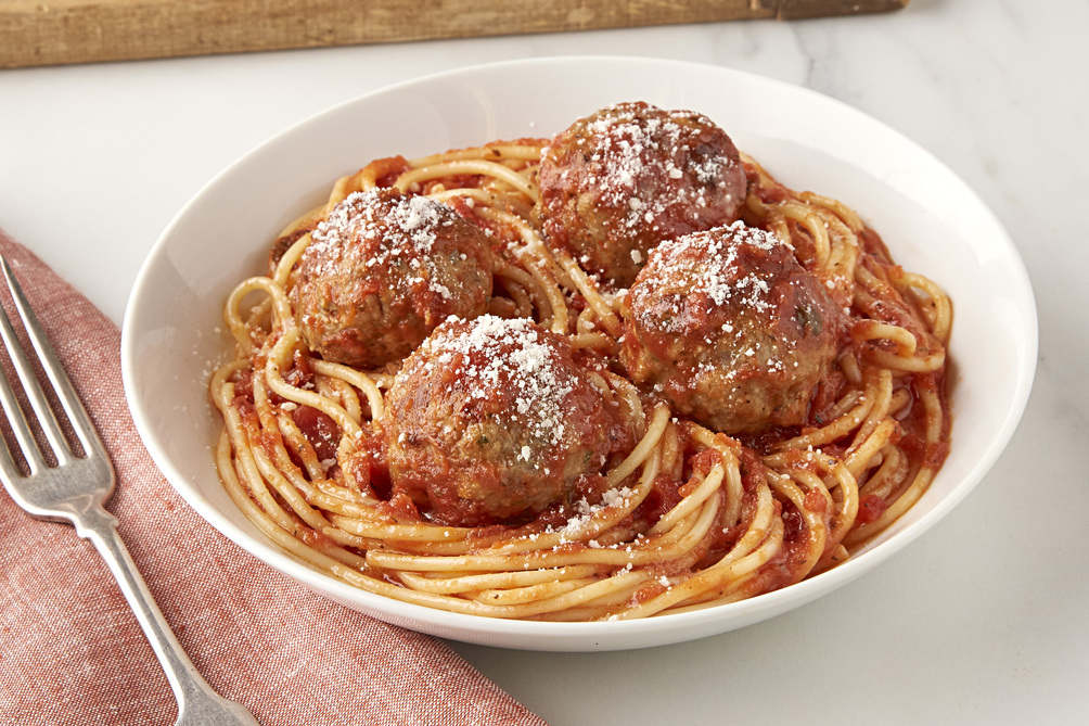 Pork Meatballs with Spaghetti