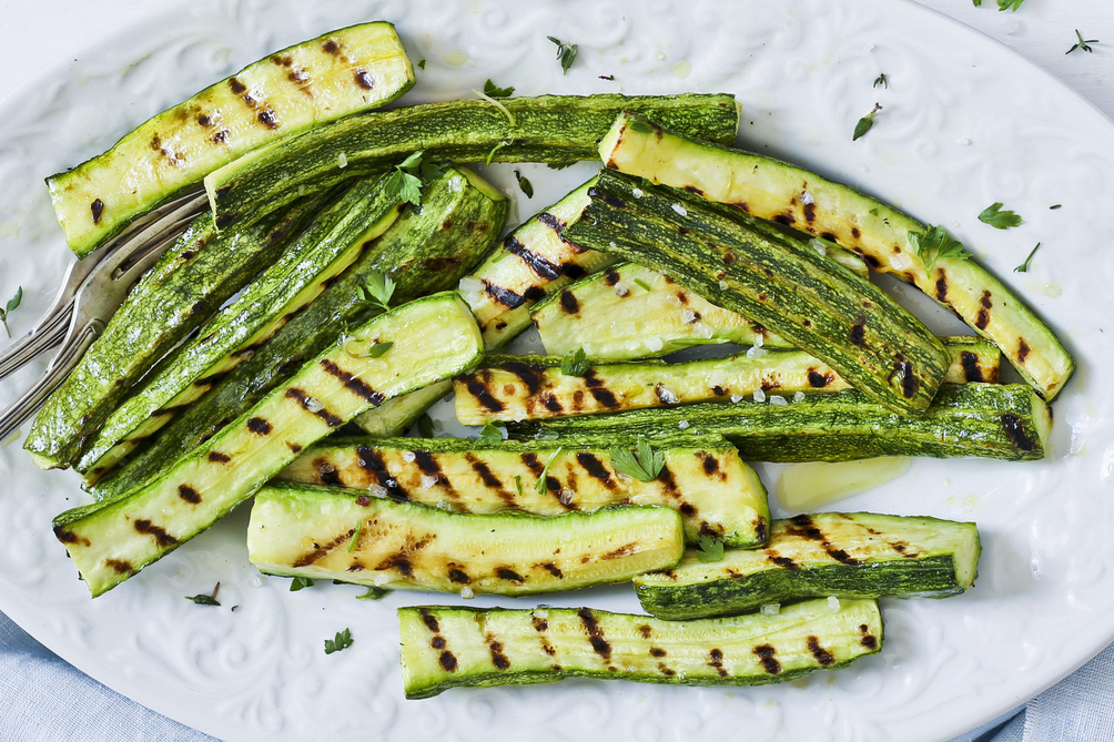 Grilled Zucchini and Fresh Herbs