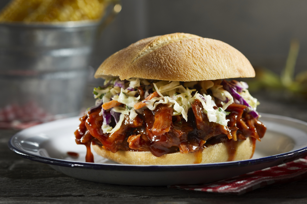 Slaw-Topped Pulled Pork Sandwiches