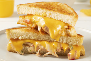 Chicken 'Enchilada' Grilled Cheese
