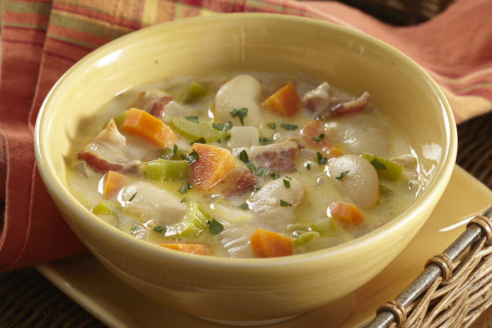 Creamy Bacon-Vegetable Soup