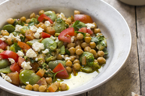 Zesty Chickpea Salad with Feta