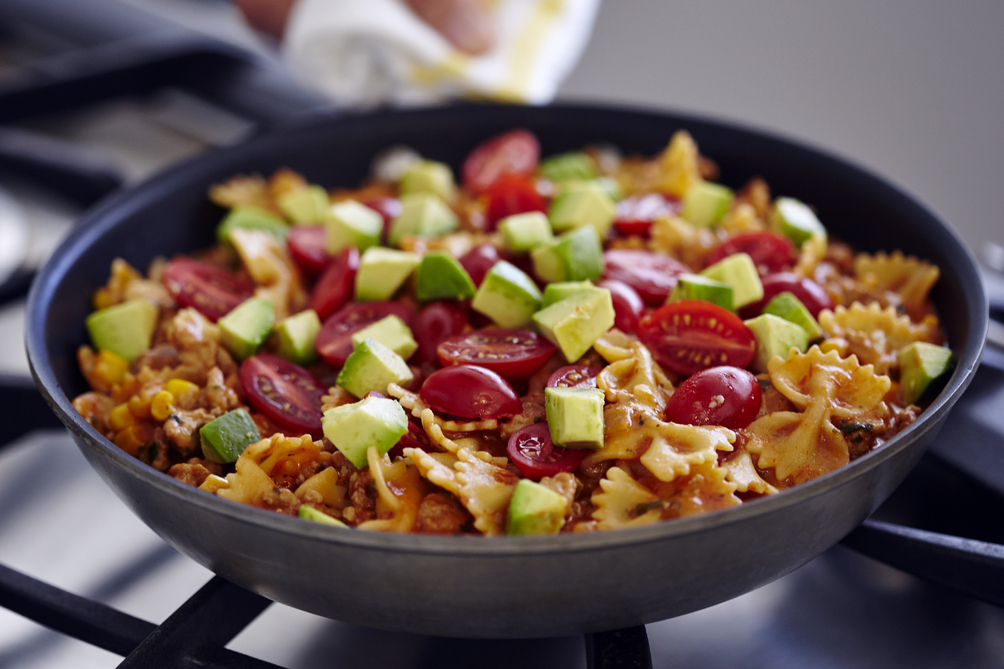 Cheesy Southwest Pasta-Turkey Skillet