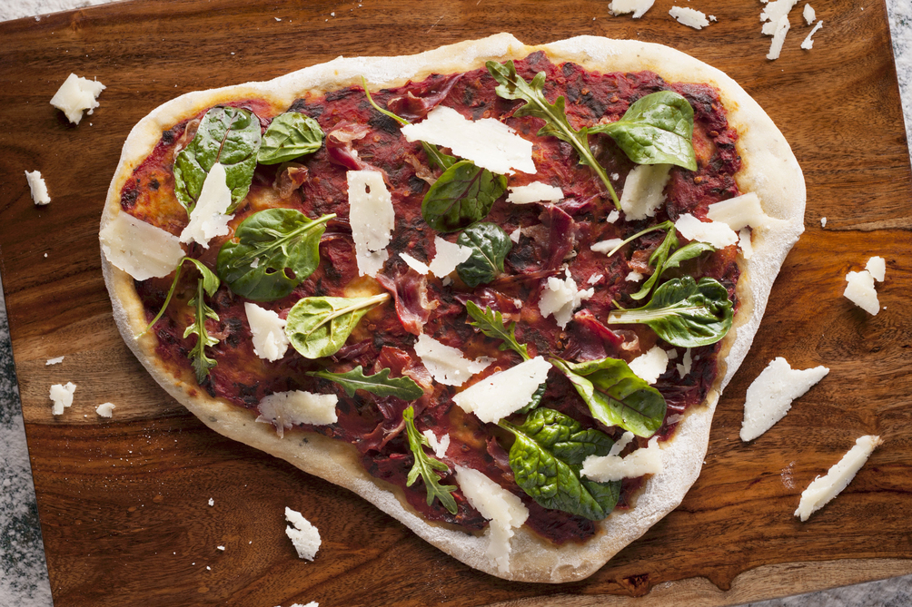 Sun-Dried Tomato Pesto and Parmesan Flatbread