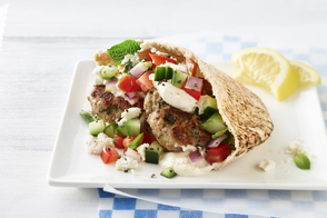 Lamb Burger Pita Sandwiches