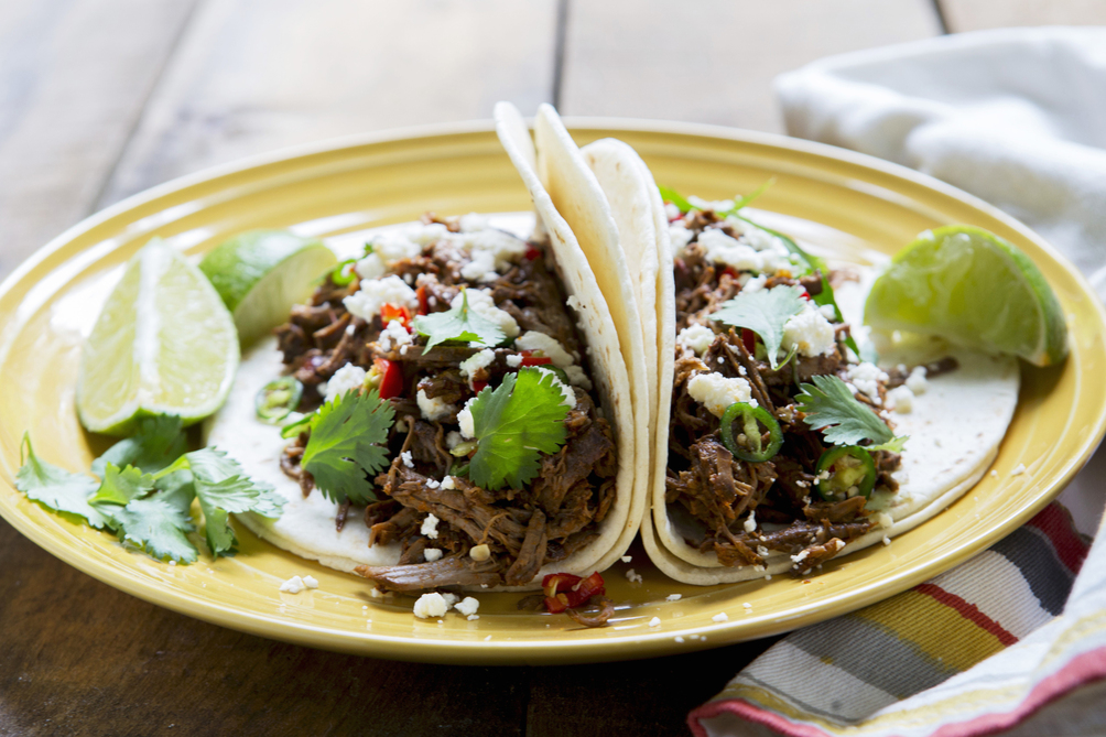 Spicy Pulled Beef Tacos