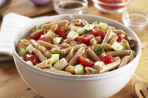 Whole Wheat-Greek Pasta Salad
