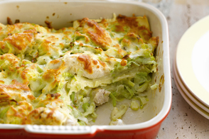 Creamy Chicken-and-Leek Lasagna