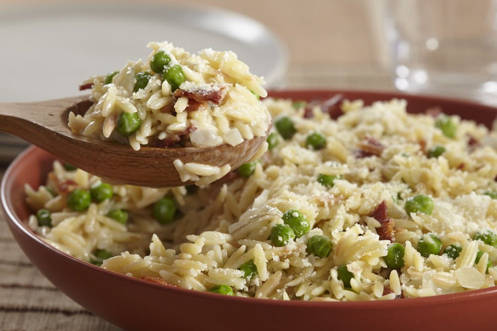 Orzotto with Peas & Bacon