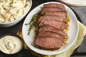 Herb-Rubbed Sirloin Tip Roast with Dijon Sauce