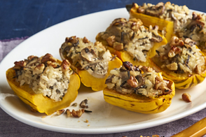 Wild Rice-Stuffed Delicata Squash