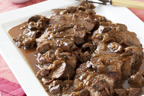 Braised Beef Brisket with Mushrooms| Onions and Gravy