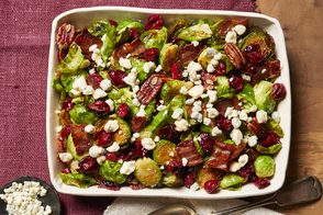 Brussels Sprouts with Cranberries & Bacon