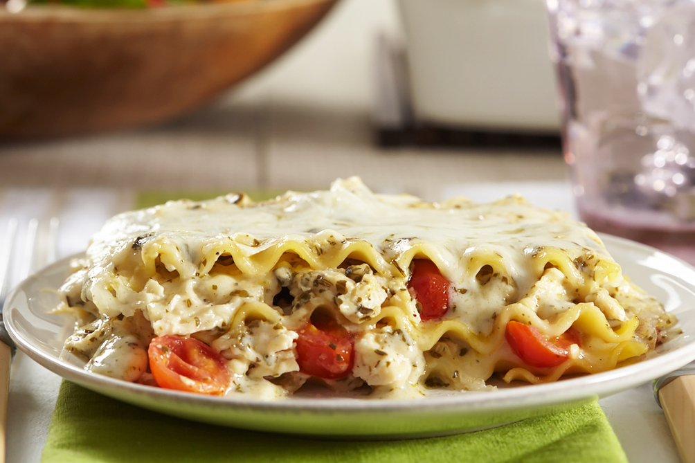 Pesto-Chicken Lasagna