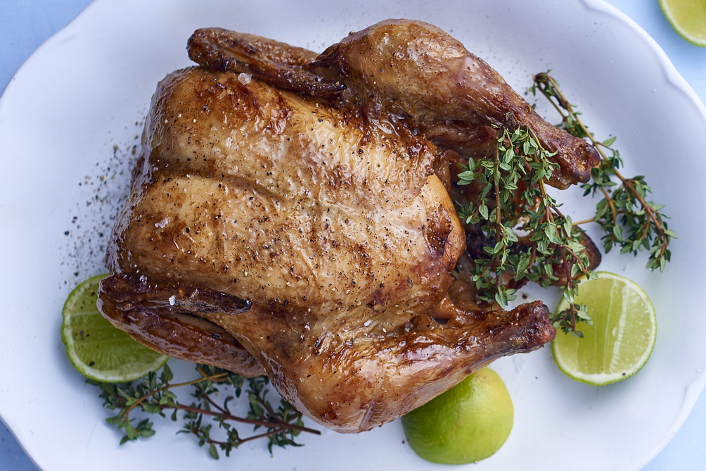 Thyme-and-Lime Roasted Chicken