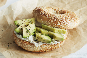 Creamy Avocado Bagel