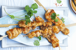 Spicy Chicken Satay with Peanut Sauce