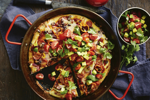 Deep-Dish Mexican Pizza