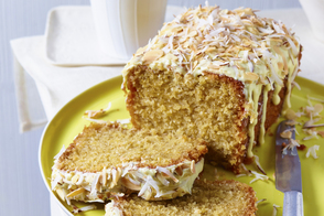 Buttermilk-Coconut Loaf with Cream Cheese Frosting