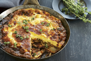 Balsamic Caramelized Onion and Potato Frittata