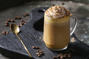 Pumpkin Latte with Whipped Topping