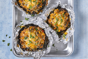 Corn and Bean Stuffed Portobello Mushrooms