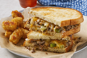 Sloppy Joe-Grilled Cheese Sandwiches