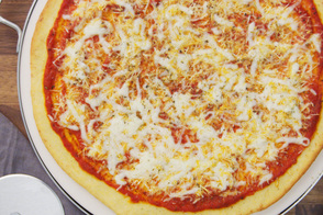 Cornmeal-Crust Cheese Pizza
