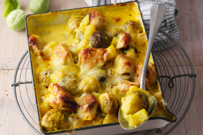 Potato and Brussels Sprout Bake
