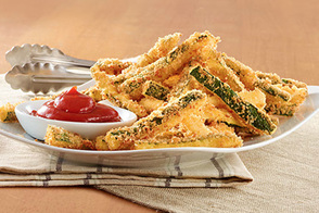 Zucchini 'Fries' with Ketchup