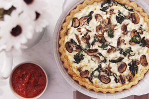 Mediterranean Egg White Quiche