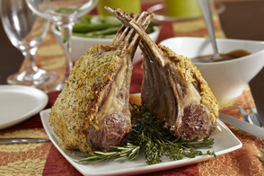 Herb-Crusted Rack of Lamb with Gravy