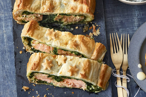 Salmon Wellington with Pesto