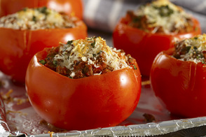 Ground Beef-Stuffed Tomatoes