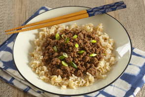 Korean Ground Beef & Rice