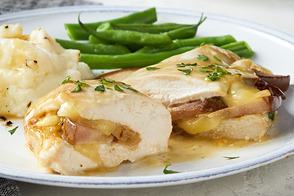 Pear-Stuffed Chicken Cordon Bleu