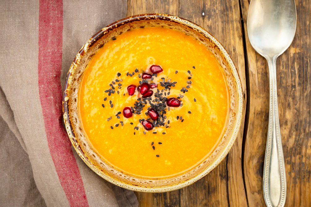 Roasted Carrot, Ginger and Coconut Soup