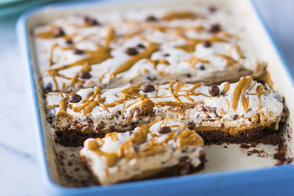 Frozen Peanut Butter and Chocolate Bars