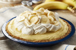 No-Bake Banana Cream Cheesecake Pie